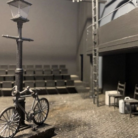 Set model. Amour rehearsals at Charing Cross Theatre, Apr 2019