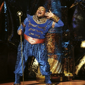 Trevor Dion Nicholas in Aladdin in the West End. © Disney, photographer Deen van Meer