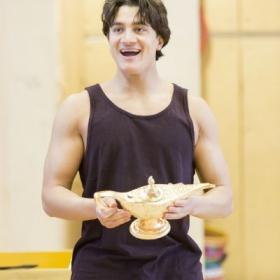 Dean John-Wilson in Aladdin rehearsals. © Johan Persson