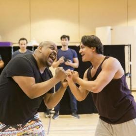 Trevor Dion Nicholas and Dean John-Wilson in Aladdin rehearsals. © Johan Persson