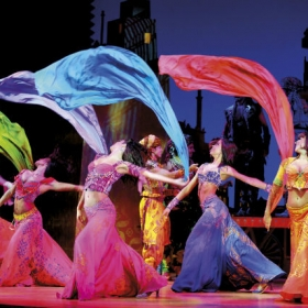 The cast of Aladdin in the West End. © Disney, photographer Deen van Meer