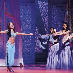 Jade Ewen and cast in Aladdin in the West End. © Disney, photographer Deen van Meer