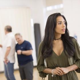 Jade Ewen (Jasmine) in Aladdin rehearsals © Johan Persson