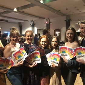 The Boogie Nights team at the Camden Fringe launch, July 2019