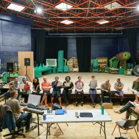 Cast of The Lorax  in rehearsal - September 2017. © Manuel Harlan