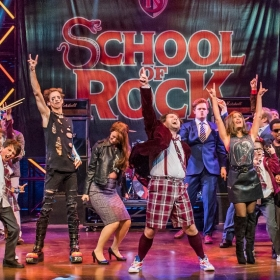 Gary Trainor leads the cast in School Of Rock. ©Tristram Kenton
