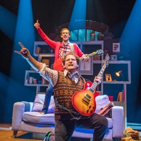 Oliver Jackson and Gary Trainor in School Of Rock. © Tristram Kenton