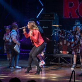 Mel C visits School of Rock 16 March 2017