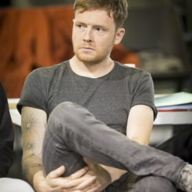 David Thaxton in Jesus Christ Superstar rehearsals