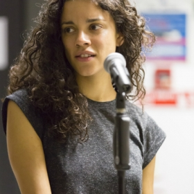 Anoushka Lucas in Jesus Christ Superstar rehearsals