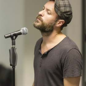 Declan Bennett in Jesus Christ Superstar rehearsals