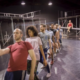 The cast in Jesus Christ Superstar rehearsals
