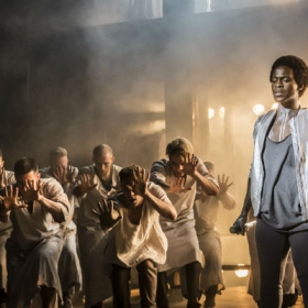 Tyrone Huntley and cast in Jesus Christ Superstar