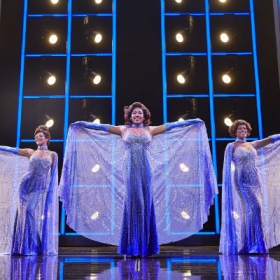 Lily Frazer, Liisi LaFontaine and Ibinabo Jack in Dreamgirls at the Savoy Theatre. © Mogenburg