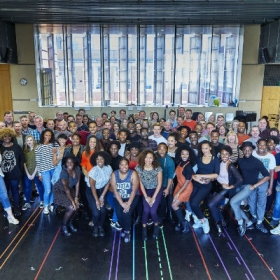 The first day of Dreamgirls rehearsals. © Ralf Brinkhoff