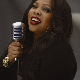Amber Riley stars in Dreamgirls. © Blair Caldwell