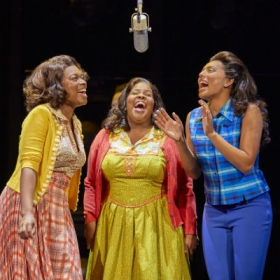 Ibinabo Jack, Amber Riley and Liisi La Fontaine in Dreamgirls. © Mogenburg