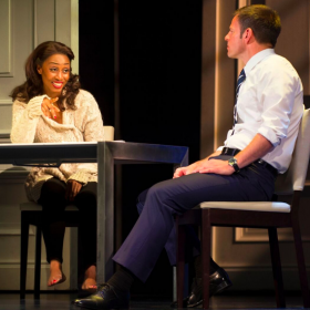 Beverley Knight and Ben Richards in The Bodyguard. © Paul Coltas