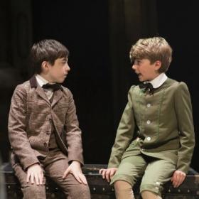 Samuel Menhinick and Luka Green in The Go-Between. © Helen Maybanks