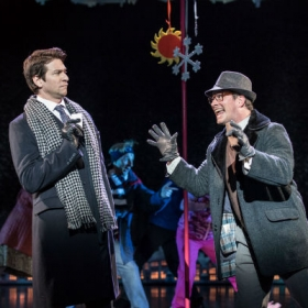 Andy Karl and Andrew Langtree in Groundhog Day at the Old Vic