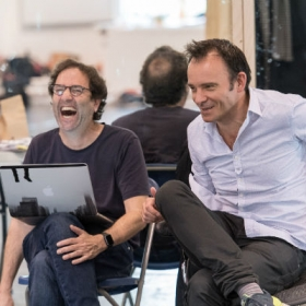 Danny Rubin (book) and Matthew Warchus (director) in Groundhog Day rehearsals
