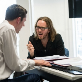 Tim Minchin (music & lyrics) in Groundhog Day rehearsals