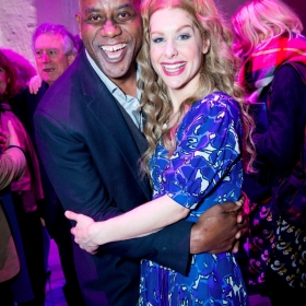 Beautiful 2nd birthday (9 Feb 2017): Ainsley Harriott & Cassidy Janson. © Craig Sugden