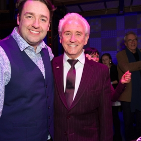 Beautiful 2nd birthday (9 Feb 2017): Jason Manford & Tony Christie. © Craig Sugden