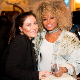 Beautiful 2nd birthday (9 Feb 2017): Jessie Wallace & Fleur East. © Craig Sugden