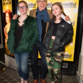 Beautiful 2nd birthday (9 Feb 2017): Larry Lamb & daughters. © Craig Sugden