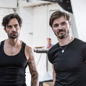 Ramin Karimloo & Norman Bowman in Murder Ballad rehearsals