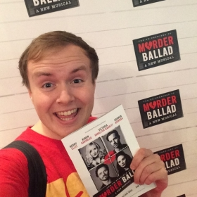 #StageFaves vlogger Perry O'Bree at the West End premiere of Murder Ballad, 5 October 2016