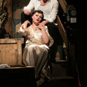 Harry Anton and Belinda Wollaston in Through the Mill. © Darren Bell