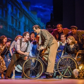 David Seadon-Young, Robert Fairchild & cast in An American in Paris at London's Dominion Theatre. © Johan Persson