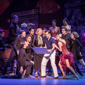Zoe Rainey, Robert Fairchild & cast in An American in Paris at London's Dominion Theatre. © Johan Persson