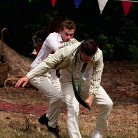 'Much Ado About Nothing' by William Shakespeare, BurntOut Theatre Open Air Tour (2014) James G. Nunn as 'Claudio'