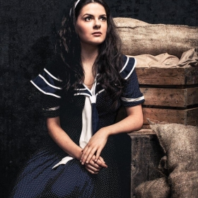 A Shot of Lucy as Young Judy Garland in Through The Mill. Copyright Darren Bell