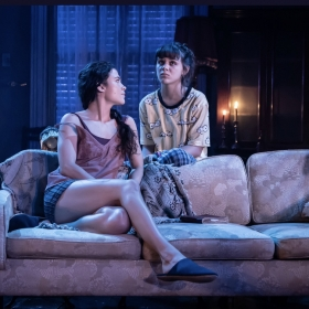 Isabella Pappas as Cassidy in Appropriate at Donmar Warehouse