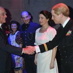 Betty Blue eyes , meeting HRH Prince Philip as HRH Prince Philip.