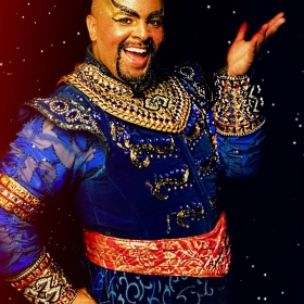 Damien as 'Genie in Disney's Aladdin