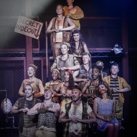 Musical Theatre students in Urinetown (2016)