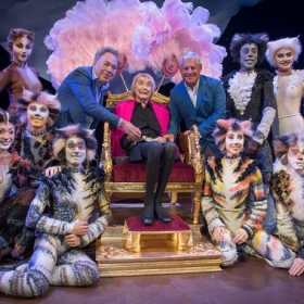 Andrew Lloyd Webber & Cameron Mackintosh, with Cats cast members, attended the renaming ceremony on 22 June 2018 in honour of Cats choreographer Gillian Lynne.
